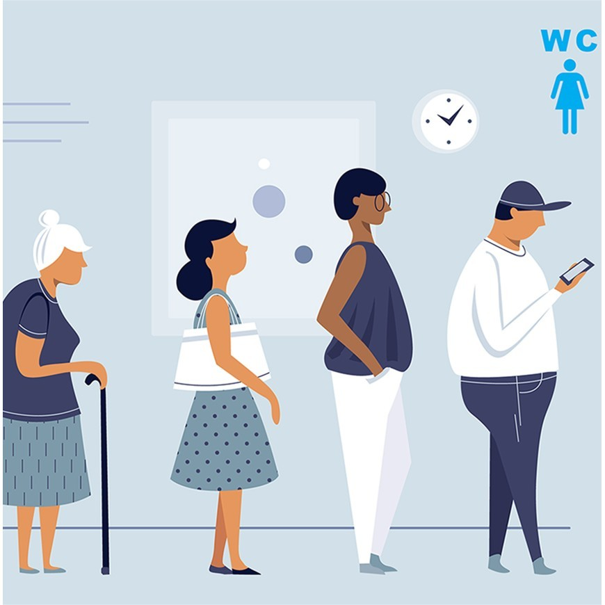 Gender equality in public toilets?