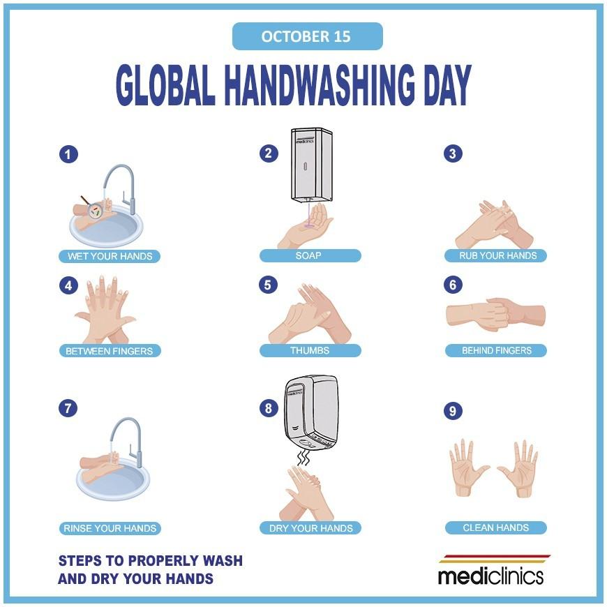 October 15-Global Handwashing Day